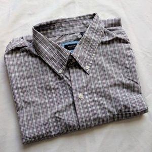 Arrow Red/White/Grey Check Button Up Shirt XL
